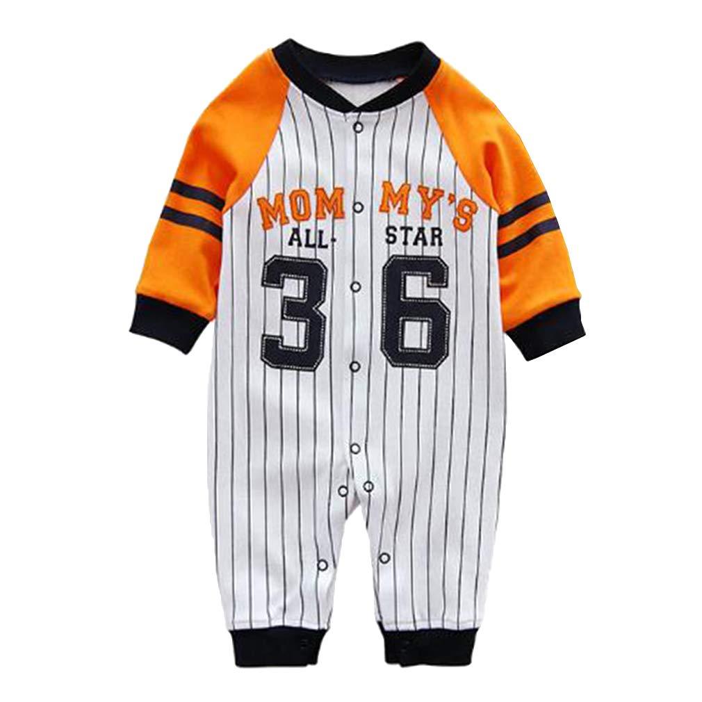 Hibote Baby Clothing Stripes Baby Girl Boy Pagliaccetti in Cotone a Maniche Lunghe Tuta Bebè Abbigliamento Neonato B180915BR6-X