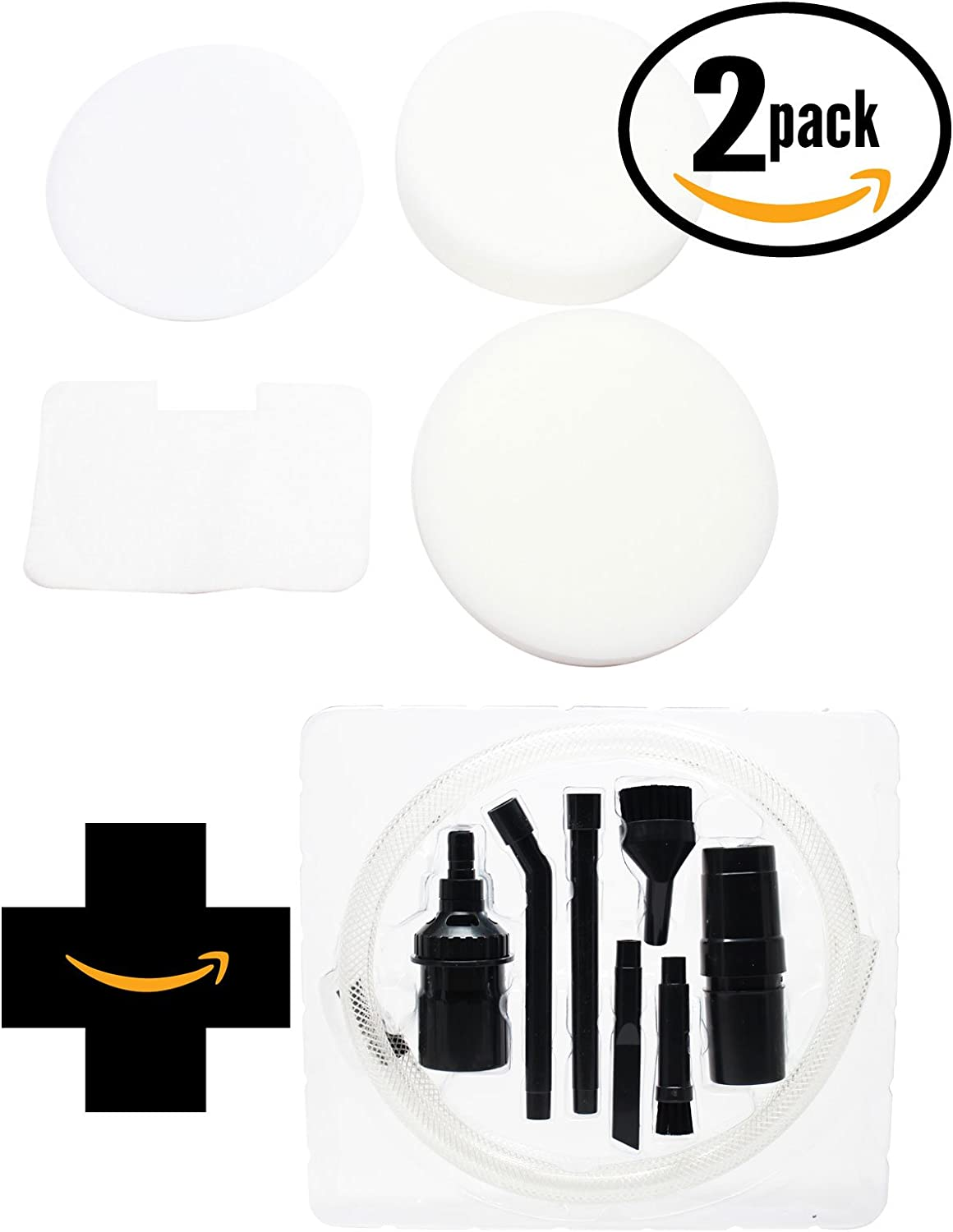 2-Pack Replacement NV22L 4-Piece Foam and Felt Filter XF22 with 1 Micro Vacuum Attachment Kit for Shark - Compatible with Shark Navigator NV22L, Shark NV22L, Shark NV22, Shark Navigator NV22, Shark NV26, Shark Navigator Swivel NV26, Shark UV410, Shark XF22, Shark UV400, Shark Navigator Swivel Deluxe UV410, Shark NV36A, Shark NV22W, Shark Navigator NV22T, Shark Navigator NV22W