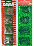 Silver and Green Ornament Hooks Pack Of 600