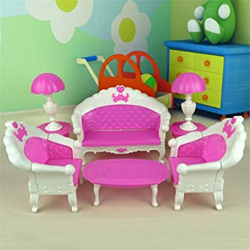 Super 6 Spielzeug Fur Barbie Puppe Sofa Chair Couch Schreibtisch Short Links Chair Design For Home Short Linksinfo