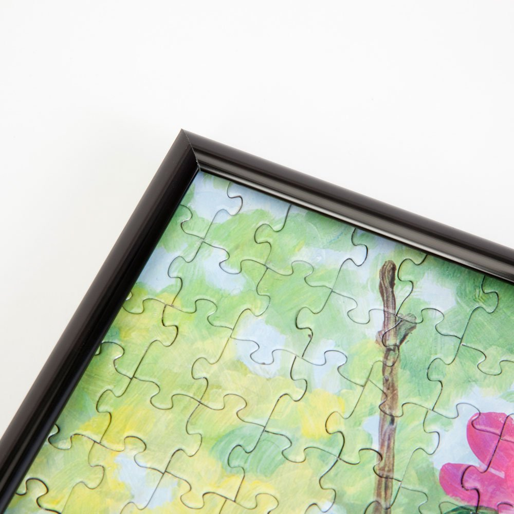 Amazon.com: Bits and Pieces - Metal Puzzle Frame - Custom Black ...