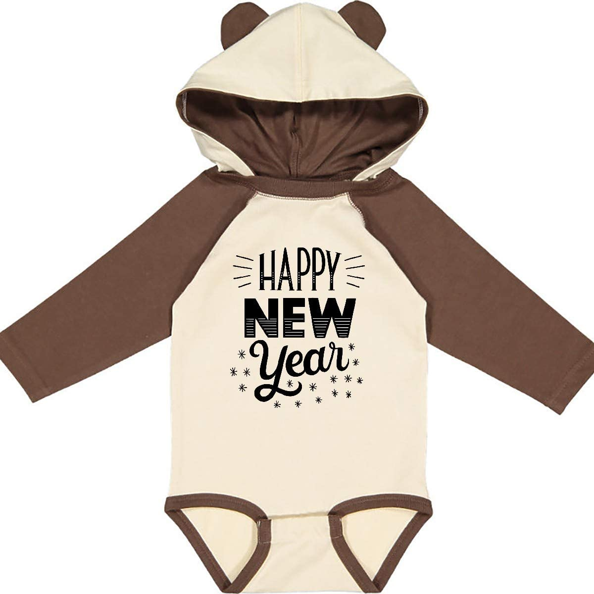 inktastic Happy New Year in Hand Lettering Long Sleeve Creeper