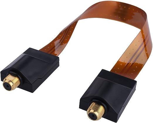 DuraSec de Line FD Slim - hauchdünne Puerta de/SAT Cable pasaventanas (Conector F a conector F) - Cable plano - Ventana Cable: Amazon.es: Electrónica