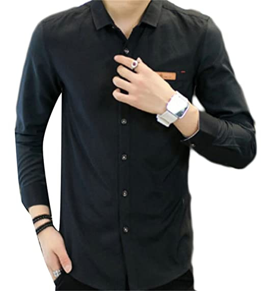b91665e37998aa Image Unavailable. Image not available for. Color  M S W Men s Casual  Button Down Oxford Long Sleeve Blouse ...