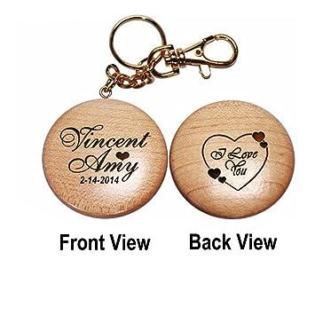 Amazon.com: Personalizado Cadena de clave de madera: Home ...