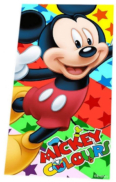 Mickey Mouse Disney Toalla de Playa, Toalla de baño, 70 x 140 cm