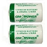 Macバックアップ用 1/2AA リチウム乾電池 【2個セット】 3.6V内蔵電池 CBT36V同等品