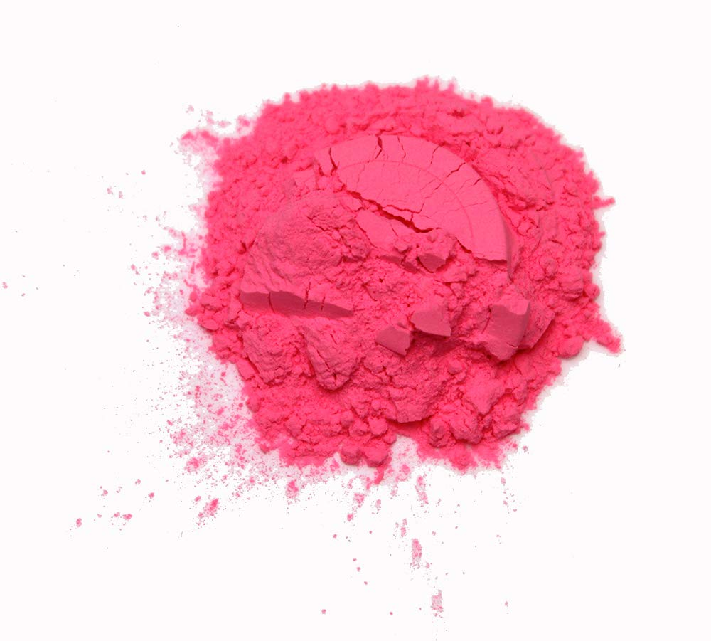Glow in The Dark Powder Daytime Visible Pink Pigment 8 Ounces by Glomania
