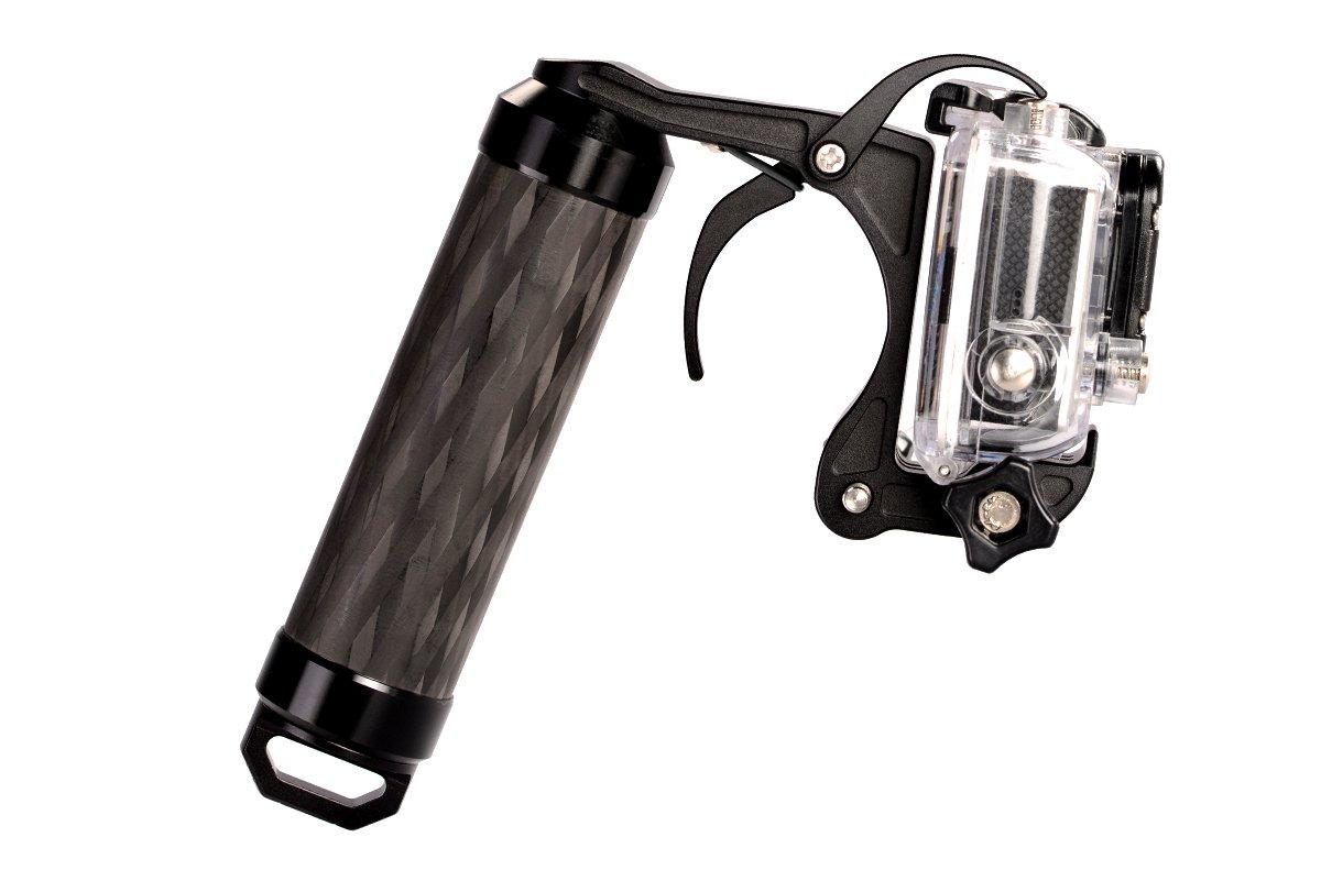 Freewell Pistol Trigger/Shutter Gun Carbon Fiber Grip for GoPro Hero4, GoPro Hero5 Black, Hero6 Black, Hero7 Black by Freewell