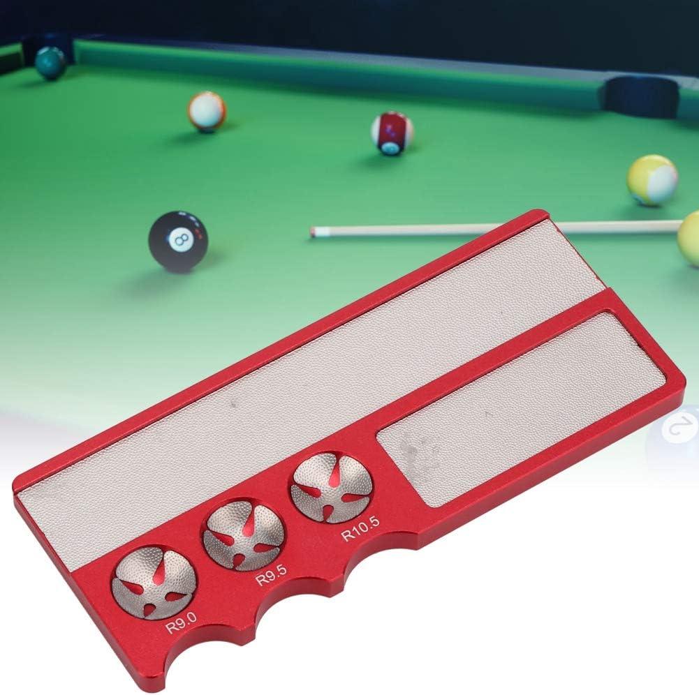 Herramienta de reparación de punta de billar, moldeador de punta de billar, herramienta de moldeador de punta de billar de billar, billar multifuncional Billar Pool Stick Club Scuffer Burnisher(rojo): Amazon.es: Deportes y