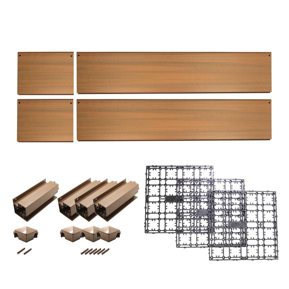 NewTechWood DAF PB-1X3 Deck-A-Floor Composite Plastic Planter Box, 14.4 x 43.2-Inch, Peruvian Teak by NewTechWood (Image #2)
