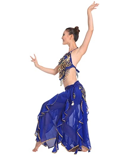 Grouptap Bollywood Azul asiático Indio árabe jazmín Vestido ...