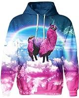 SAYM Unisex Galaxy Pockets Casual Pullover Hooded Hoodies Sweatshirts