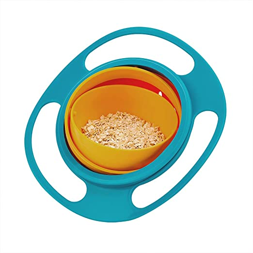 Children Baby Universal 360 Degree Rotate Spill-Proof Gyro Bowl Dishes WT