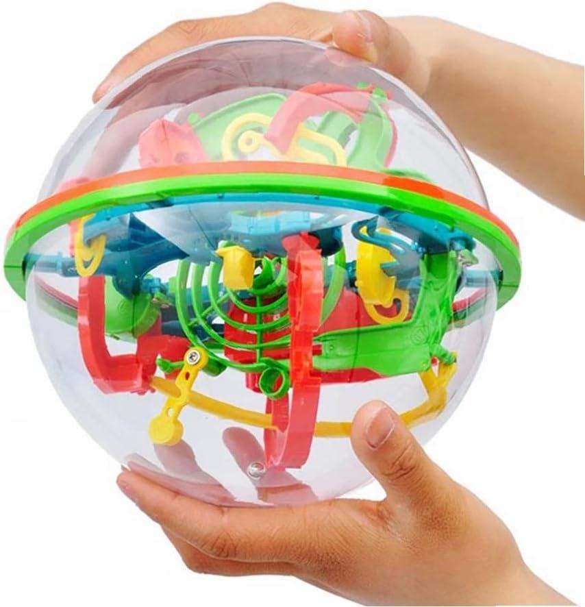 ZYCX123 3D Labyrinthe Ball Puzzle Toy 100 Barri/ères Labyrinthe Magique Intelligence Balle /équilibre Maze Ball Puzzle