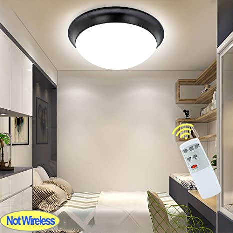 Dllt Remote Control Led Ceiling Disk Light 24w Dimmable Modern Flush Mount Ceiling Fixture Brightness Adjustable Round Light Fixture For Bedroom