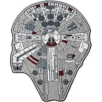 Amazon Com Star Wars Large Millenium Falcon Rug 59 Quot L X