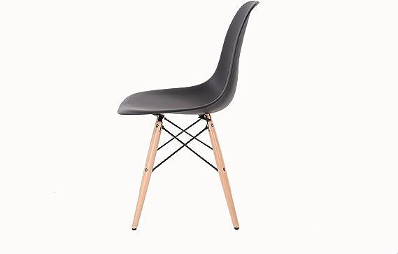 HNNHOME Chaise Inspirée Eiffel Dîner Salon Mobilier Moderne Rouge