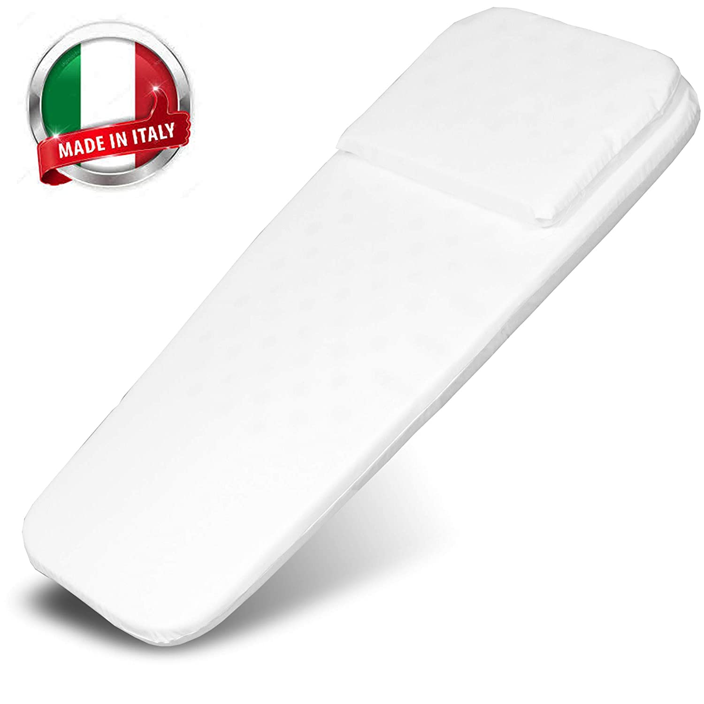 Espuma perforada Hipoalerg/énico 72x32cm Colch/ón para capazo - Made in Italy- Funda antihumedad Sin sustancias nocivas