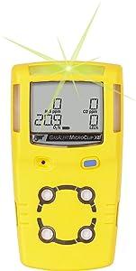 BW Technologies MCXL-XW00-Y-NA GasAlertMicroClip XL 2 Gas Detector, LEL and O2, Yellow
