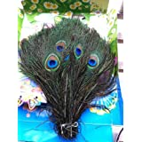 100pcs Real Natural Peacock Feather 10-12 Inches Wedding Decoration Feathers (25cm-30cm) by lotmusic