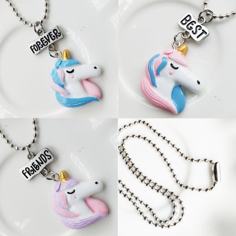 Sbarden un ensemble dBest Friends Ensemble collier pour enfants R/ésine Collier Pendentif Flamingo amis Collier Creative Cadeau pour vos amis Fille ou Gar/çon
