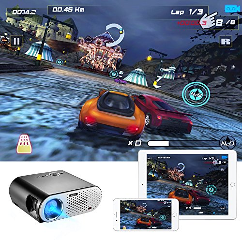 Video Projector Portable, CiBest GP90 LCD Projector HD 1080p 3500 Luminous Efficiency LED Multimedia Home Cinema Theater Entertainment Movie Party Game Projector HDMI VGA for Laptop iPad Smartphone by CiBest (Image #2)