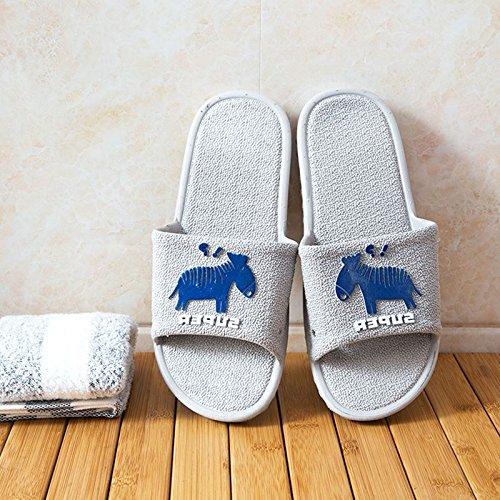 Et D'Été En Femmes Dérapant Douces 38 Intérieur Hommes Saphir Épaisse Pantoufles 39 Chaussures Semelle Bain De Pantoufles Plastique Bleu Couples Fond Anti WEIAIXX qpX0O0