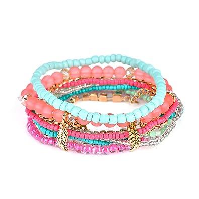 magasin d'usine 0ed29 dd7aa Lunji Bracelet Fantaisie Femme - Bracelet Bohème Chic ...