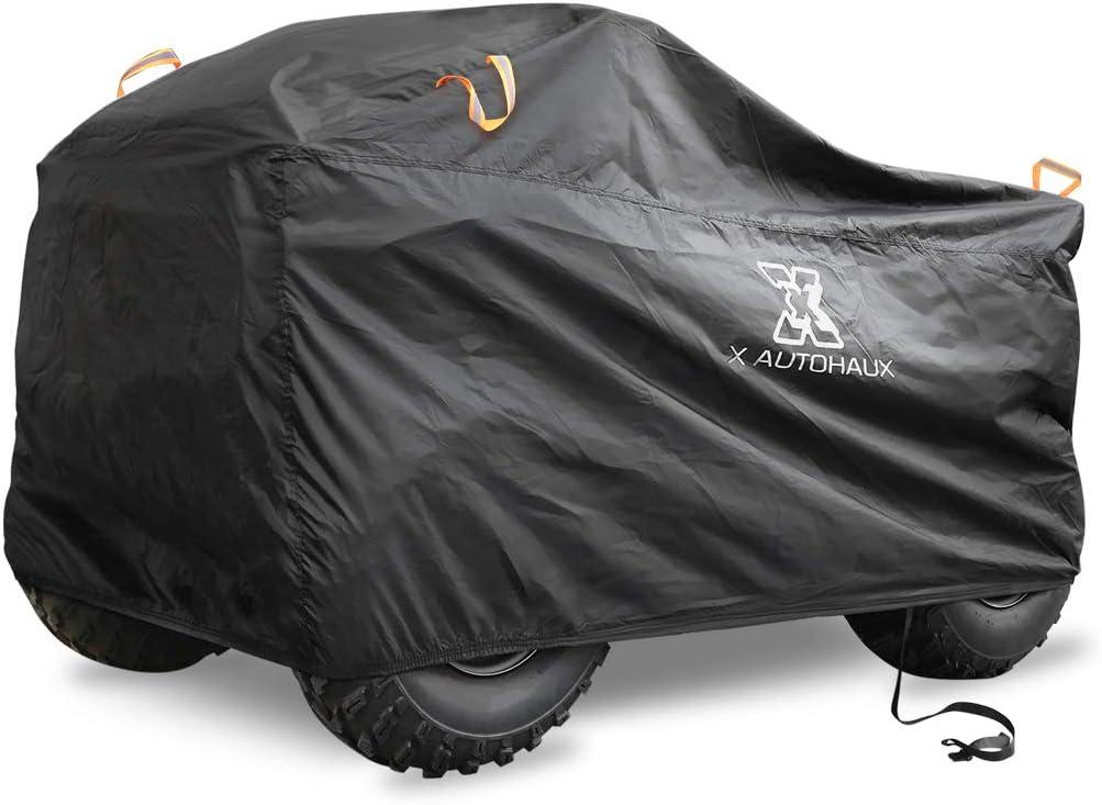 X AUTOHAUX XXXL Quad ATV Abdeckplane Wasserdicht Abdeckung Schutz Cover Regen Schwarz