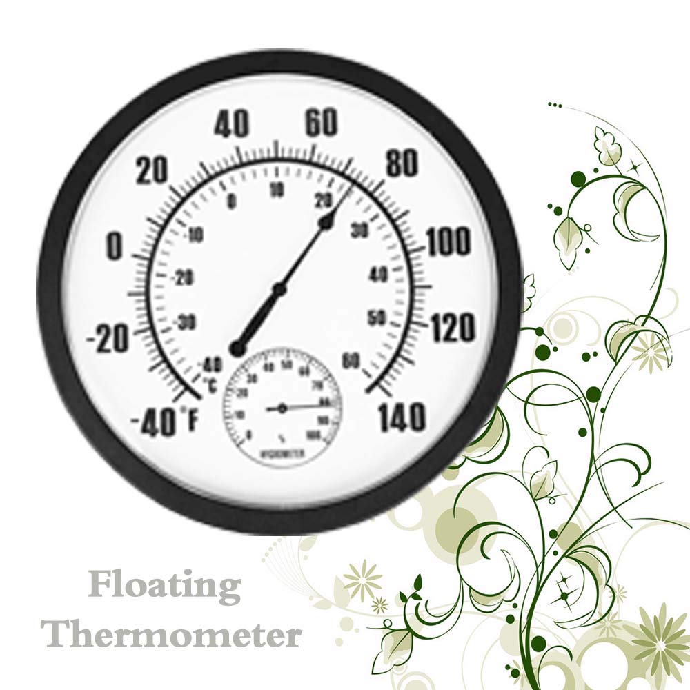 US Blue Robot Large Outdoor Thermometer Wall Garden Patio Outdoor Indoor Greenhouse Wall Decorative