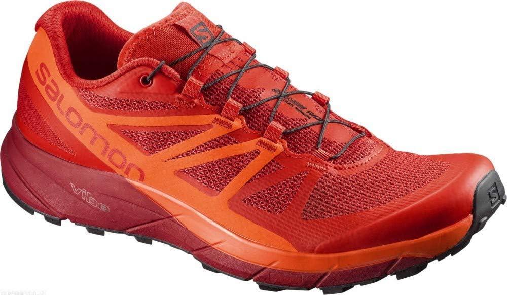 SALOMON Zapatillas de hombre Trail Running Sense Ride A5, rojo, 46 ...