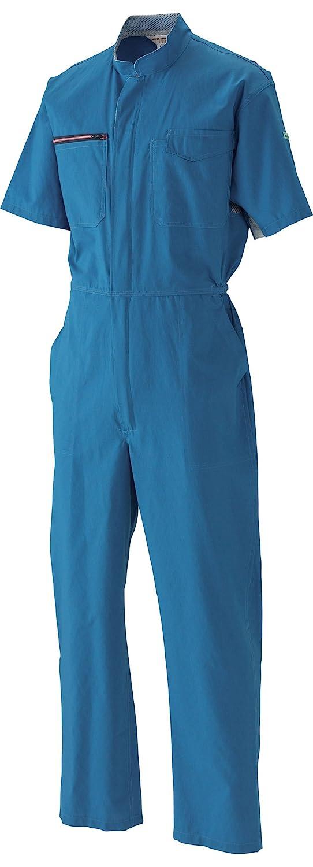 日の丸繊維 シャミラン半袖ツナギ服 6710 ミッドナイトブルー 4Lサイズ B0793G9DZH