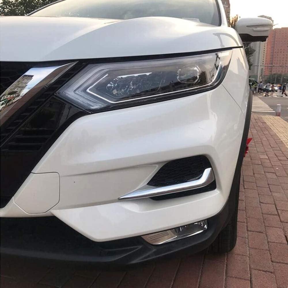 Gnnlor F/ür Nissan Qashqai J11 2018 2019 ABS Chrom//Kohlefaser Stil Nebelscheinwerfer Lampe Augenlid Augenbrauenabdeckung