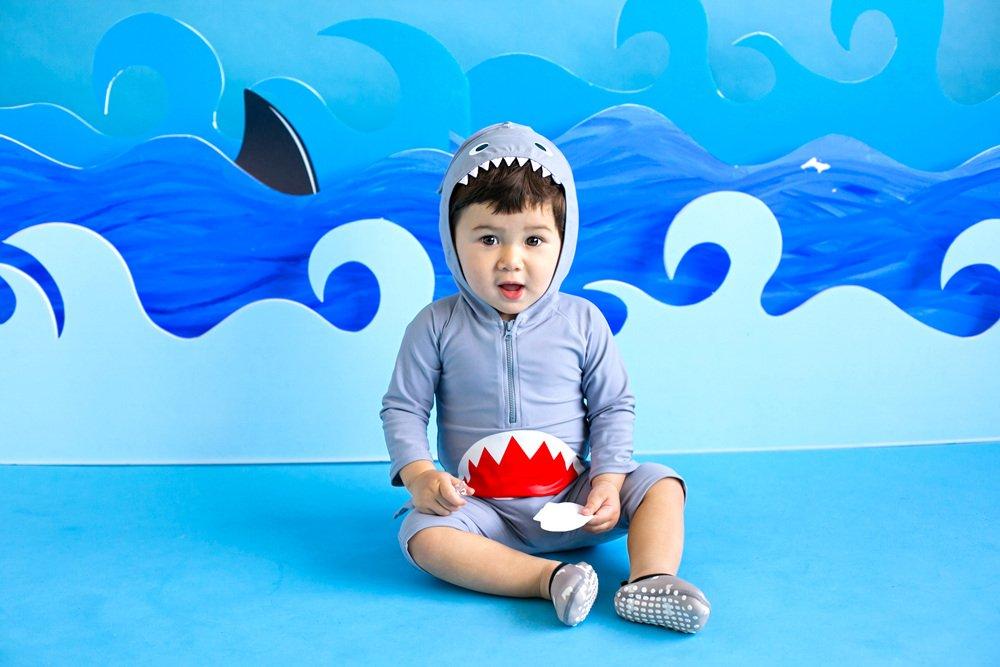 Vaenait baby 56-80 Baby Badeanzug Swimmanzug Infant Jungen Rashguard Swimwear Real Jaws Baby