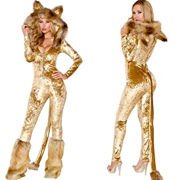 Halloween Cosplay Traje Adulto Cosplay Sexy Uniforme Gato Chica ...