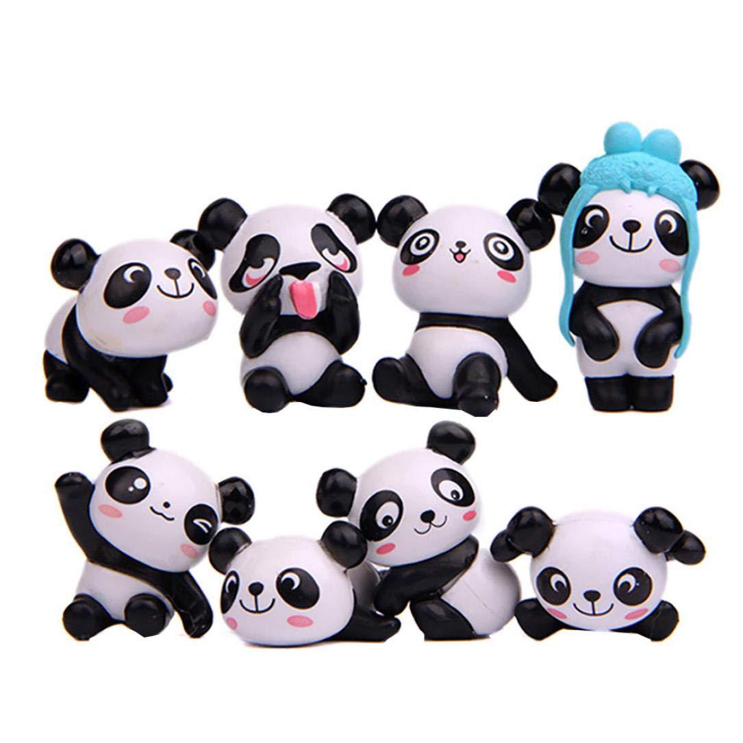Winkey Funny Dessin animé Animaux Panda Aimant de réfrigérateur Autocollant réfrigérateur Cadeau Home Decor, Plastique, 2pcs Panda, 2.8-4.3cm