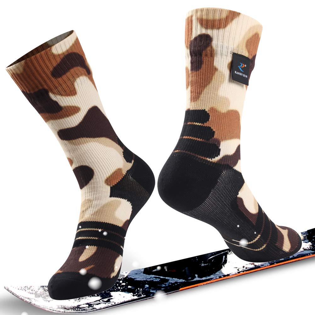 通気性防水ソックス Socks、[ SGS認定]ランディSunユニセックス通気スキートレッキングハイキングソックス B07P2H5Z86 1 Pair-Camouflage Brown Printing-Mid B07P2H5Z86 Calf Calf Socks Medium Medium|1 Pair-Camouflage Brown Printing-Mid Calf Socks, ミブマチ:f65cdc7c --- ero-shop-kupidon.ru