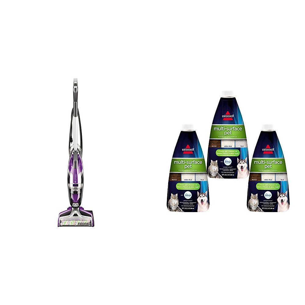 BISSELL Crosswave Pet Pro All in One Wet Dry Vacuum Cleaner and Mop for Hard floors and Area Rugs, 2306A with Multi Surface Pet Floor Cleaning Formula, 3 Pack, Purple