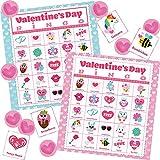 Toys : JOYIN 56 Players Valentines Day Bingo Cards (5x5) for Kids School Classroom Exchange Gift Rewards, Valentine's Fun Party Favor Games, Indoor Family Activities.