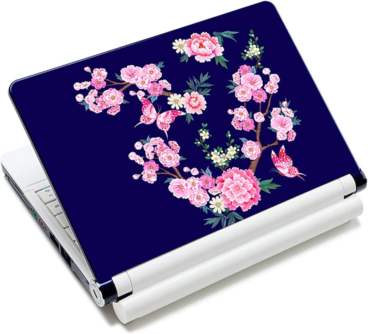 Laptop Stickers Decal,12 13 14 15 15.6 inches Netbook Laptop Skin Sticker Reusable Protector Cover Case for Toshiba Hp Samsung Dell Apple Acer Leonovo Sony Asus Laptop Notebook (Butterfly & Flowers)