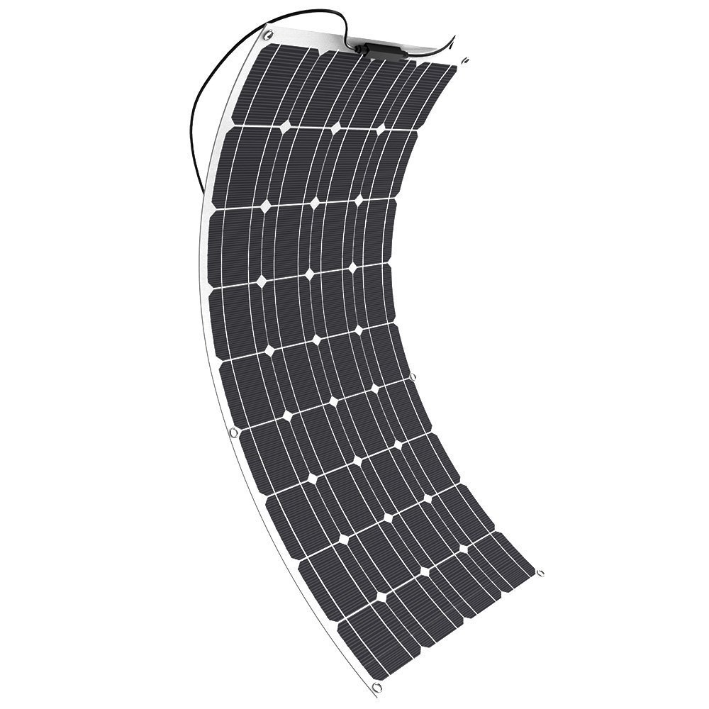 GIARIDE Solar Panel, 18V 12V 100W High-efficiency Monocrystalline Cell with MC4 Connectors Flexible Bendable Off-grid Solar Panel for 12 Volt Battery, RV, Boat, Car, Motorhome, Camping