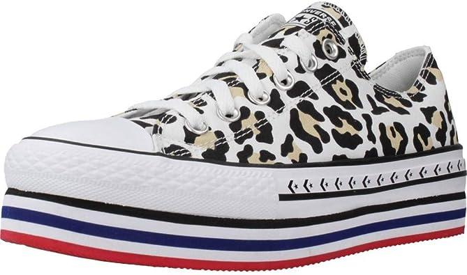 Converse CTAS Lift White/Desert 566764C, Zapatillas Animal Print Plataforma para Mujer: Amazon.es: Zapatos y complementos