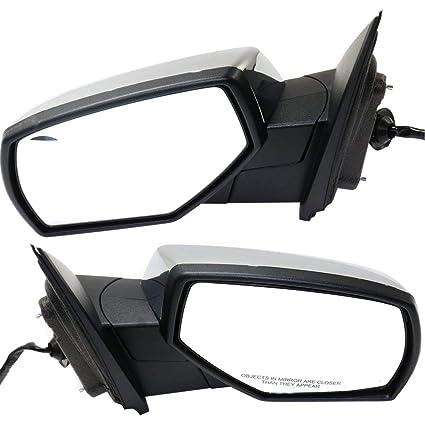 Power Mirror for Silverado//Sierra 1500 14-18//2500 HD//3500 HD 15-18 Right Side Manual Folding Heated Non-Towing All Cab Types Chrome Kool Vue GM132CR