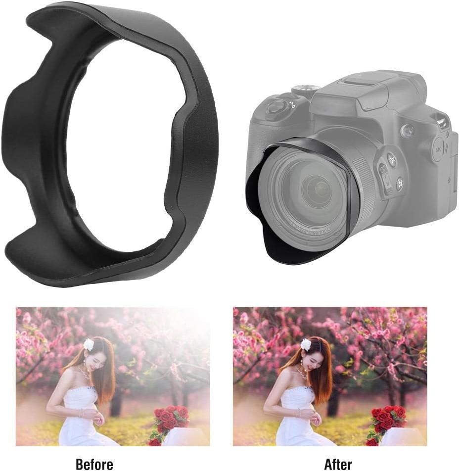 Rain and Snow to Some Extent Sand Bewinner Camera Hood,LH-DC90 Plastic Lens Hood Replacement for Canon PowerShot SX HS Camera,Prevents from Wind