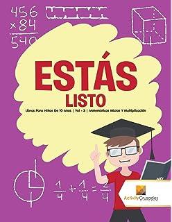 Estás listo : Libros Para Niños De 10 Años | Vol - 3 | Matemáticas Mixtas