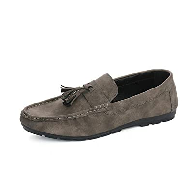 Surprising Day New Autumn Men Casual Breathable Nubuck Leather Retro Doug Shoes Tassel Design Soft Driving Flats Loafers Shoes Big Size 39-44