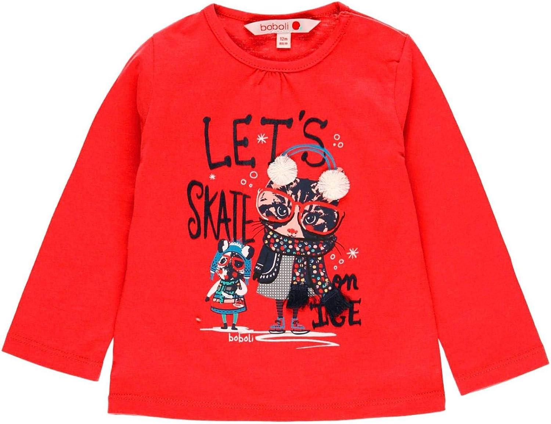 modello 231017 Boboli Maglietta a maglia liscia da bambina