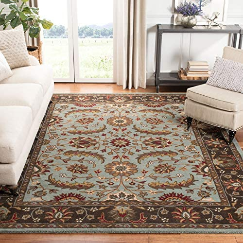 Safavieh Heritage Collection HG962A Handcrafted Traditional Oriental Blue and Brown Wool Area Rug 9' x 12'