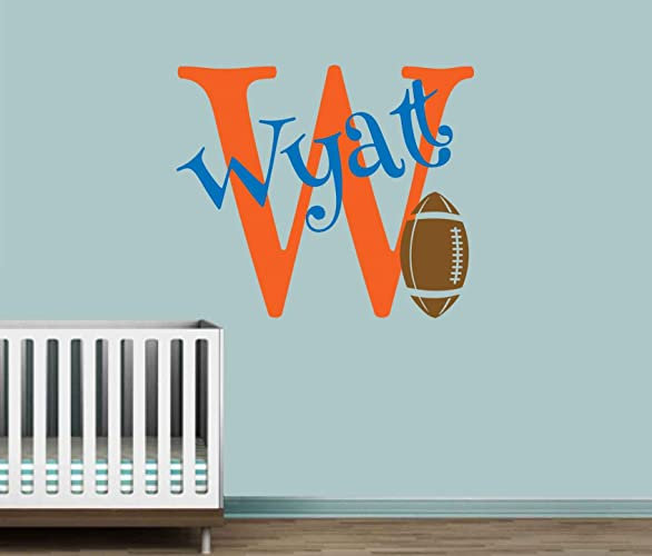 Delightful Personalized Monogram Kids Wall Decals   Boys Wall Decal  Name Vinyl  Lettering   Baby Boy